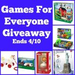 Games For Everyone #Giveaway Ends April 10 *ENDED*