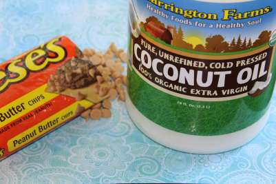 peanut butter morsels and coconut oil
