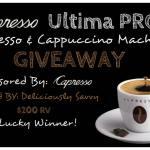 Capresso Ultima PRO Espresso & Cappuccino Machine Giveaway Ends June 27