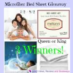 Microfiber #Mellanni Bed Sheet #Giveaway Ends August 2 *ENDED*