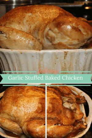 Garlic Stuffed Baked Chicken, Get in my belly now!