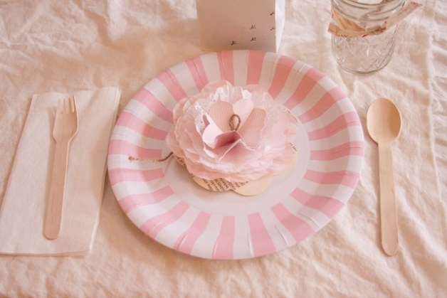 pink bird and branches inspired baby shower place setting (640x427)