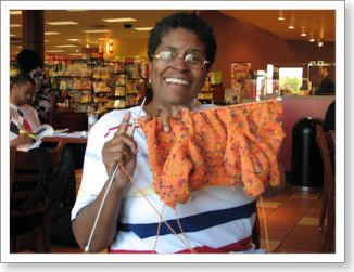 Marie is knitting the February Baby Sweater by Elizabeth Zimmermann