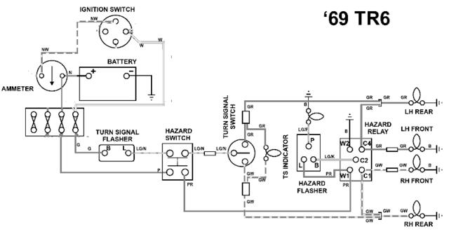 tr6 horn relay wiring auto electrical wiring diagramhazards and right turn signals not working