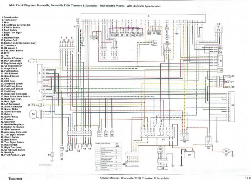tiger 1050 wiring power schematic