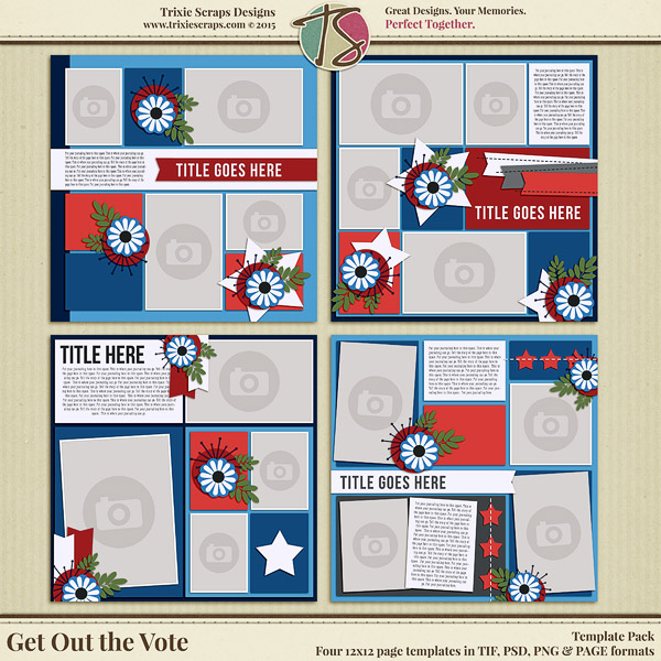 Get Out the Vote Digital Scrapbooking Templates Get Out the Vote