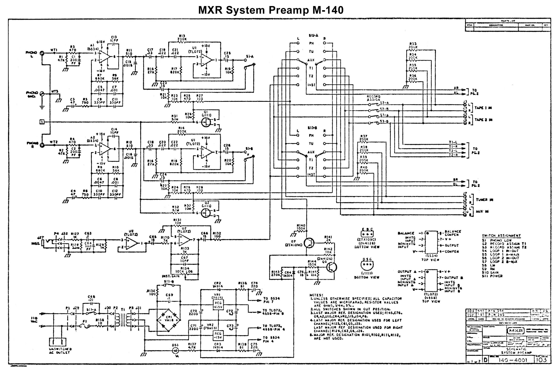 mxr preamp wiring diagram