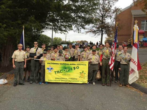 Troop 150 at Annandale Parade 2015