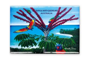 Lorikeets Fridge Magnet