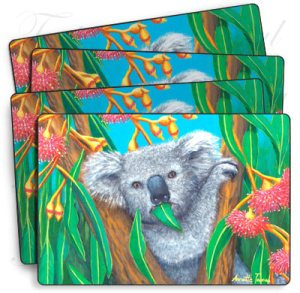 4 pack of Koala Placemats