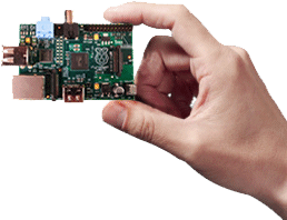 Placa Raspberry Pi (Click para ampliar)