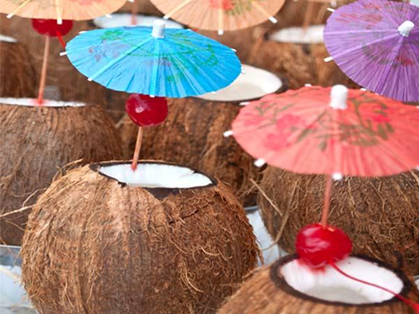 Pina Colada in coconut husk
