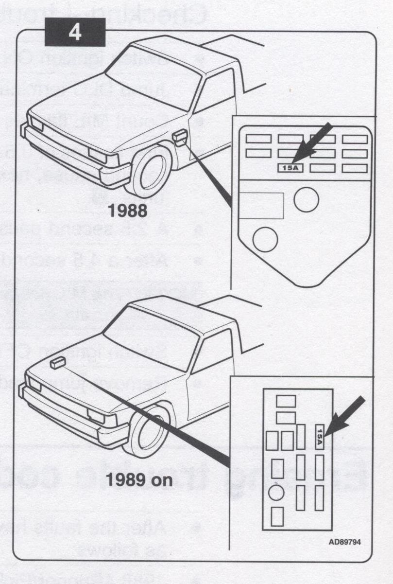1988 toyota pickup fuse panel
