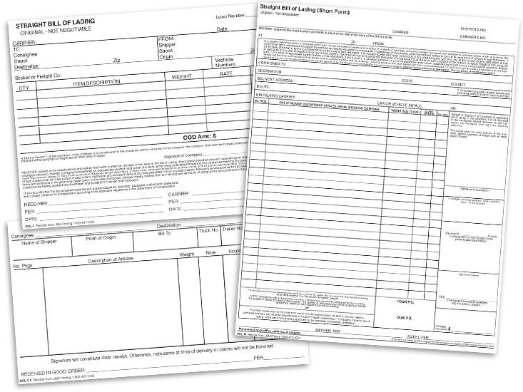 Bills of Lading at TruckingLogs