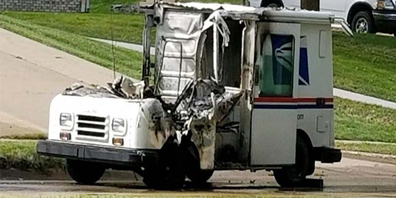 Mail Truck Fires Persist in Aging Fleet Tagged for Replacement