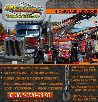 Morton\u0027s Towing  Recovery JESSUP, MD Truck Stop/Service Directory
