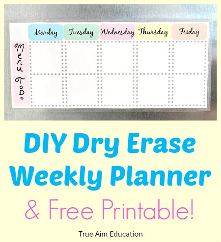 Free Weekly Planner Printable True Aim