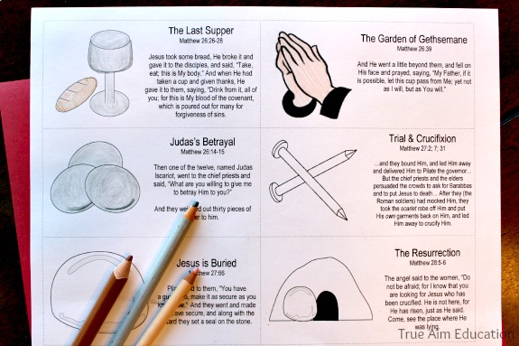 Easter Resurrection Story Cards Free Printable True Aim - free printable religious easter cards