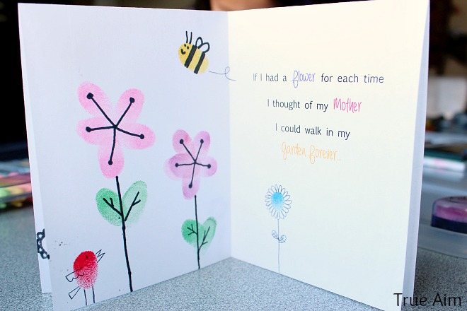 Fingerprint Mother\u0027s Day Card Kids Can Make True Aim