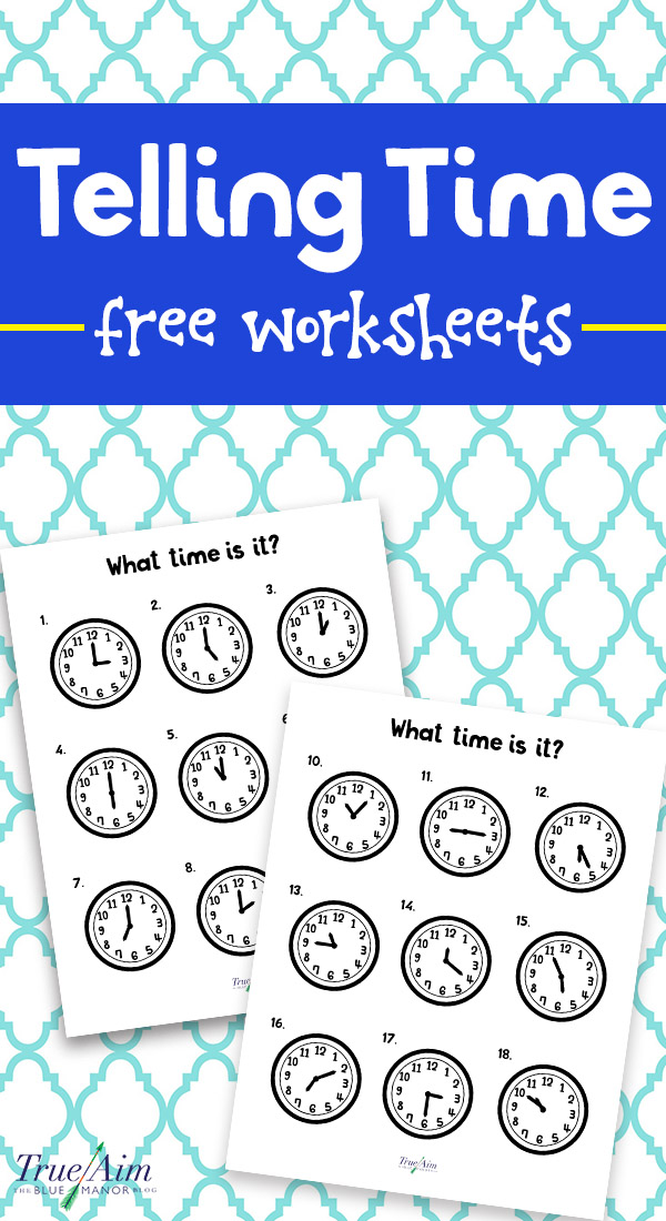 Teaching Telling Time with Free Printable Worksheets - time worksheets