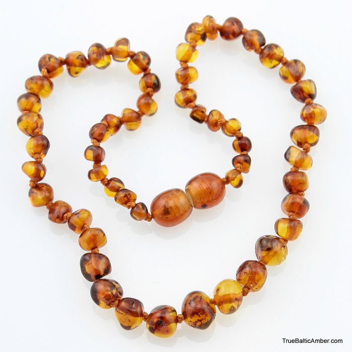 Baroque Baby Teething Baltic Amber Necklace