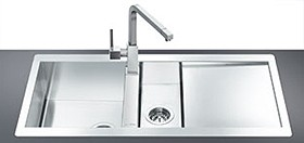 15 Bowl Stainless Steel Flush Fit Sink Right Hand