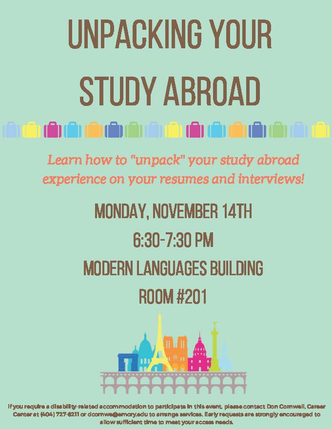 Professional study abroad advisor templates to showcase your
