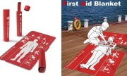 Ingenious First Aid Blanket Is Covered With Instructions To Save Lives.