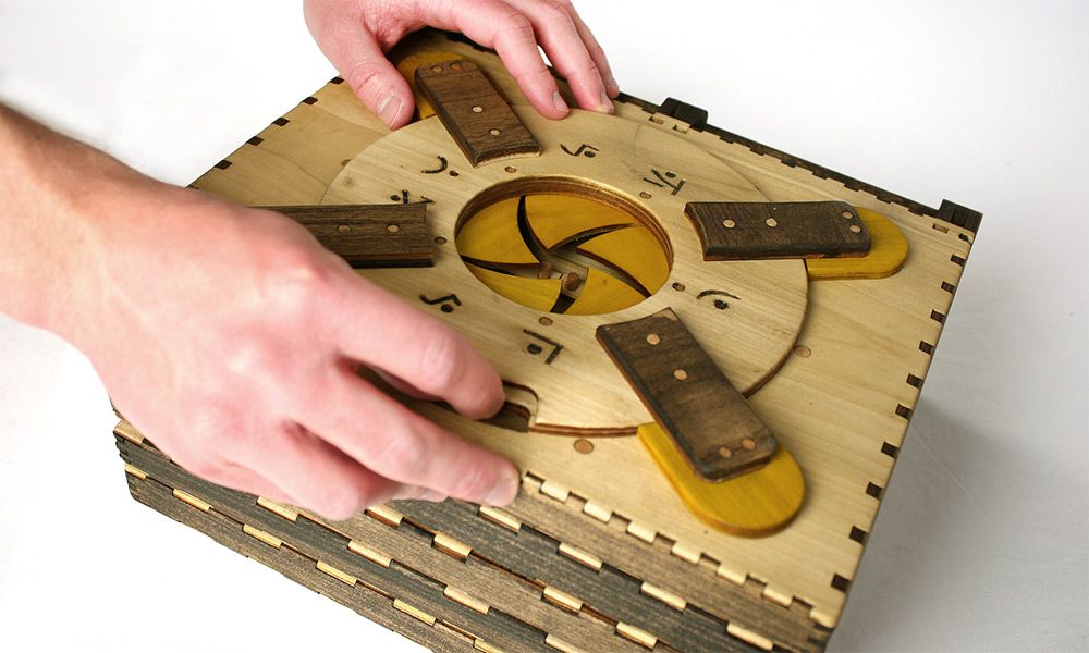 Incredible Wooden Book Is a Series of Puzzles That Have to Be Solved to Continue Reading.-3