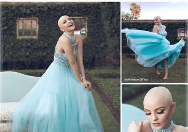 Cancer doesn't stop her from being a princess.