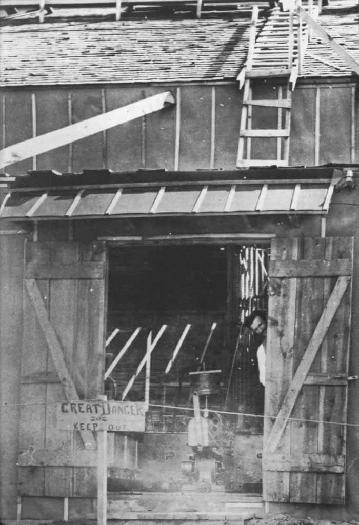 One of our favorite images of Tesla. In this photograph, Tesla looks out the door of his laboratory in Colorado Springs. The image was taken in 1899.