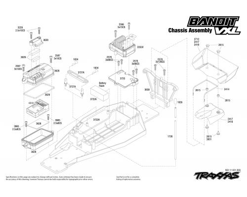 2407 chassis exploded view bandit vxl