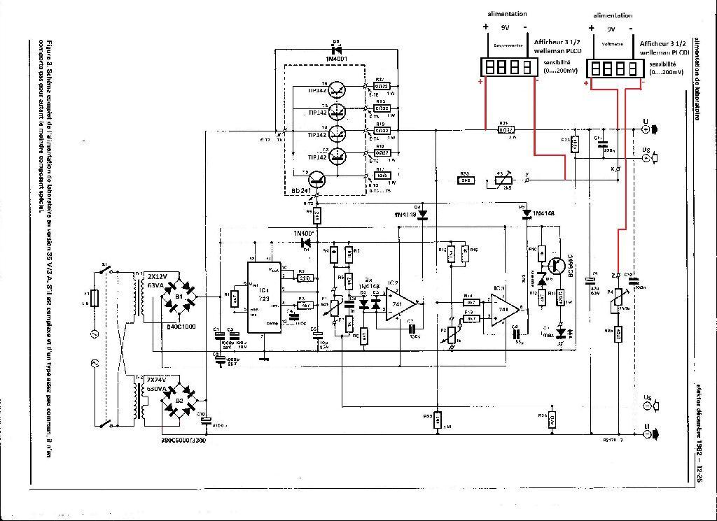 digital meter schema cablage