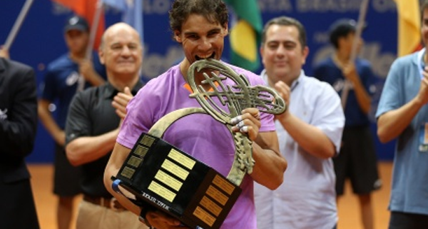 Rafael Nadal wins the 2013 Brasil Open