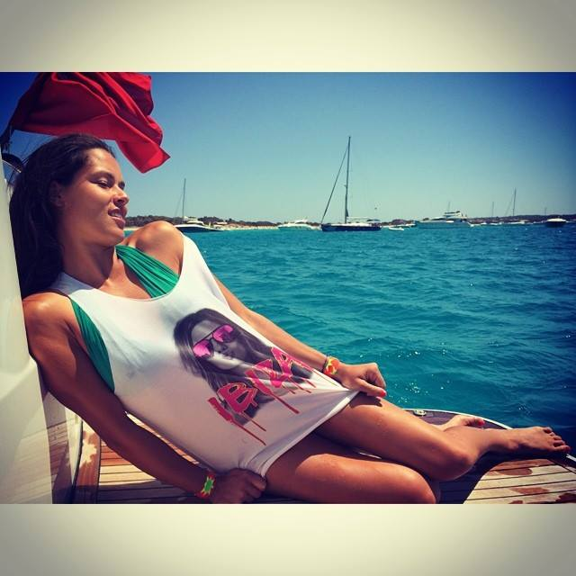 Ana Ivanovic enjoying summer