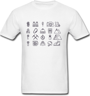 Camping icons black 1
