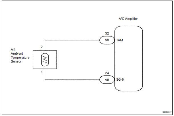 Toyota Sienna Service Manual Ambient temperature sensor circuit