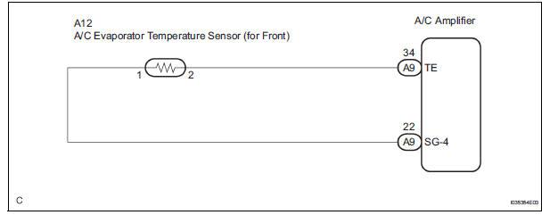Toyota Sienna Service Manual Evaporator temperature sensor circuit