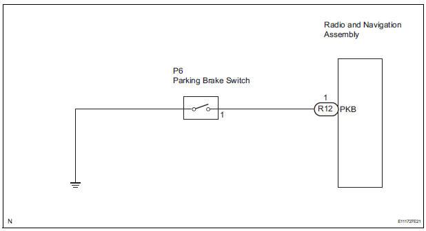 Toyota Sienna Service Manual Parking Brake Switch Circuit