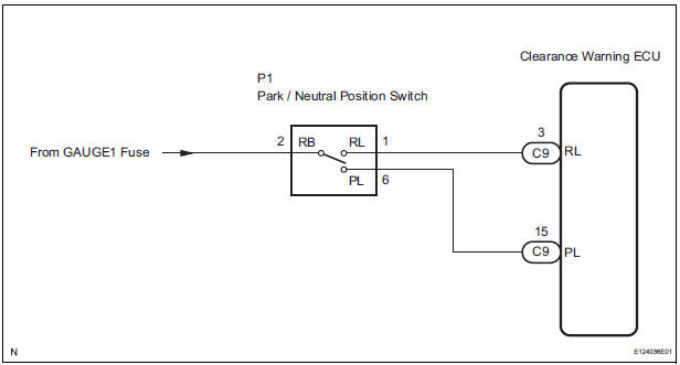Toyota Sienna Service Manual Park / Neutral Position Switch Circuit