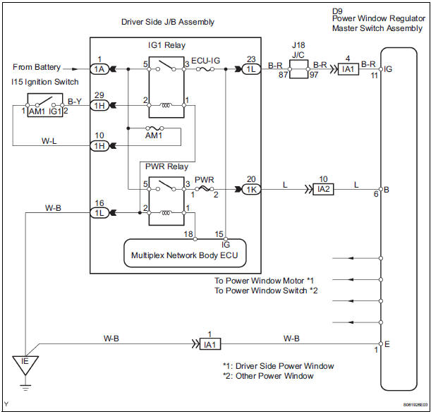 Electric Window Wiring Diagram Schematic Diagram Electronic