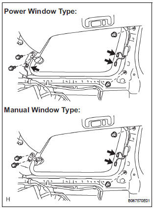 Toyota Sienna Service Manual Removal - Rear side window glass