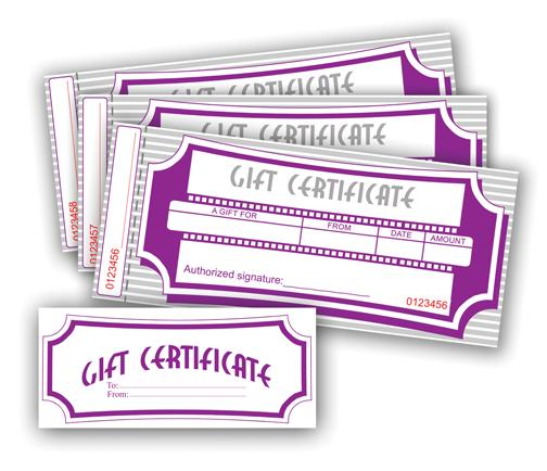 Numbered Gift Certificates (100 Pk), 10-678, Cards  Forms