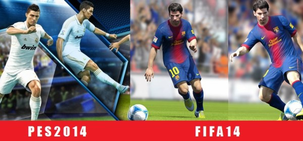 PES 2014 vs FIFA 14 Graphic Comparisons