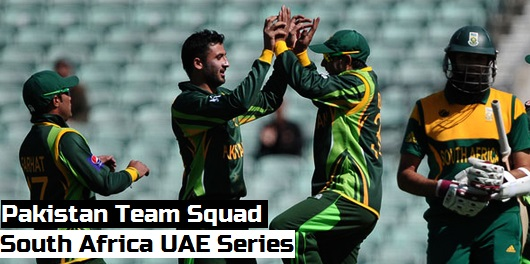 Pakistan team squad 2013 South Africa UAE Series
