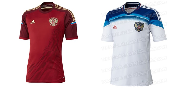 Russia home away official world cup 2014