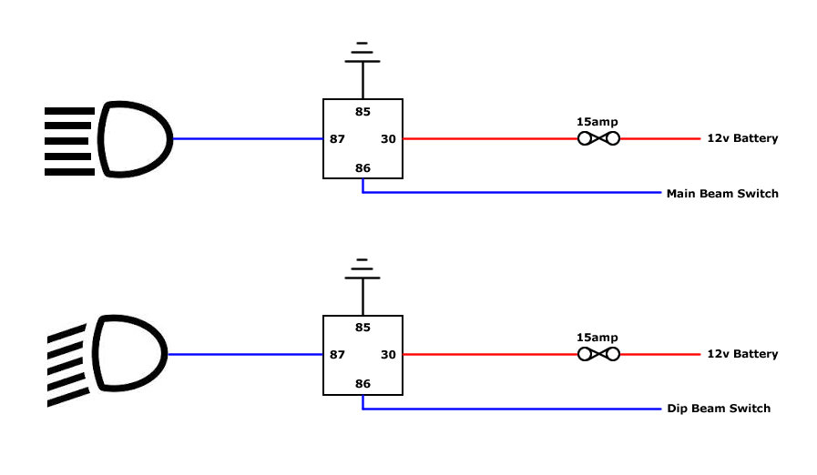 single spotlight wiring diagram
