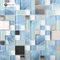 TST Glass Metal Tile Blue Sky Cloud White Kitchen Bath ...
