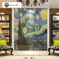 TST Mosaic Murals Van Gogh Oil Painting The Starry Night