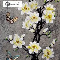 TST Mosaic Murals Gradient Color Jade Glass Butterfly ...
